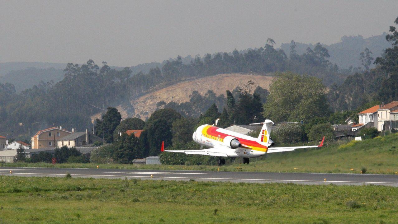 Avión de Air Nostrum despegando desde Alvedro