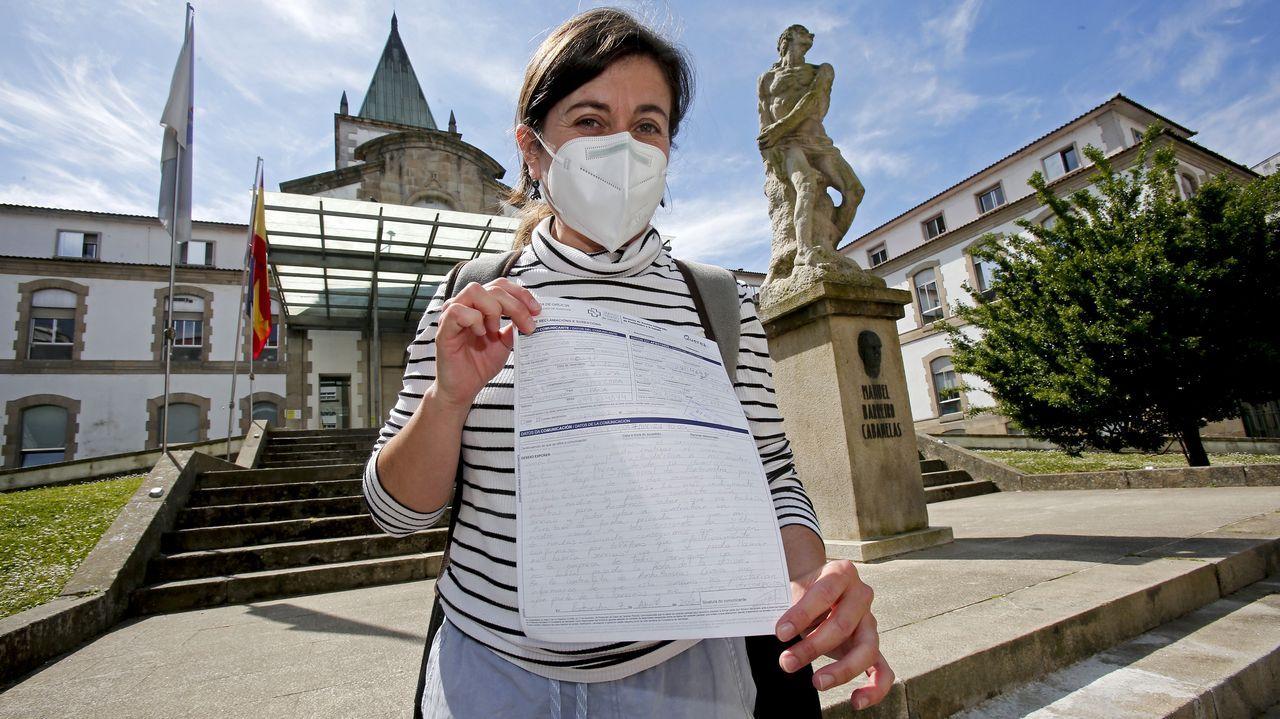 Iria Pesqueira, tras presentar una reclamación en el Hospital Provincial por el servicio de transporte sanitario no urgente