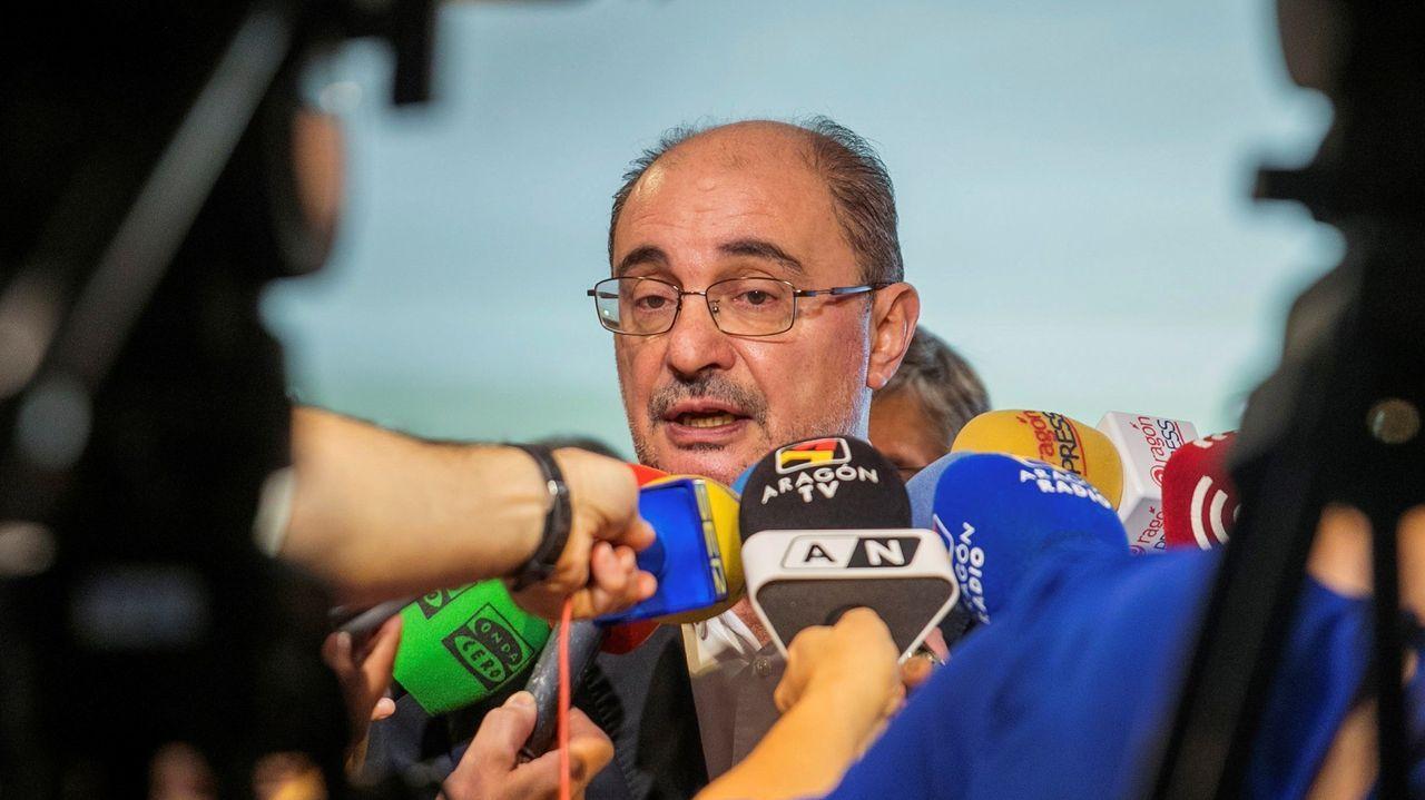 Javier Lambán, presidente en funciones de Aragón y candidato a ser investido de nuevo