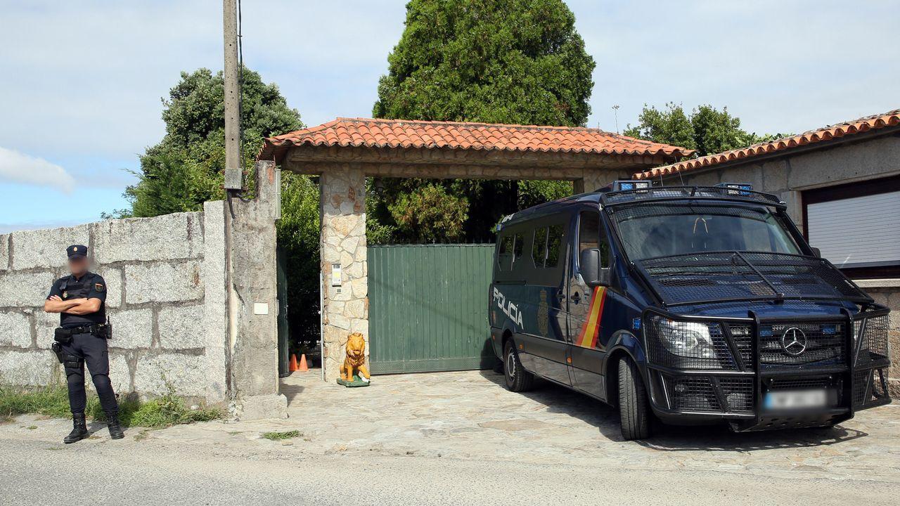 Incautados 25 kilos de cocaína en Marín ocultos en la puerta de un contenedor
