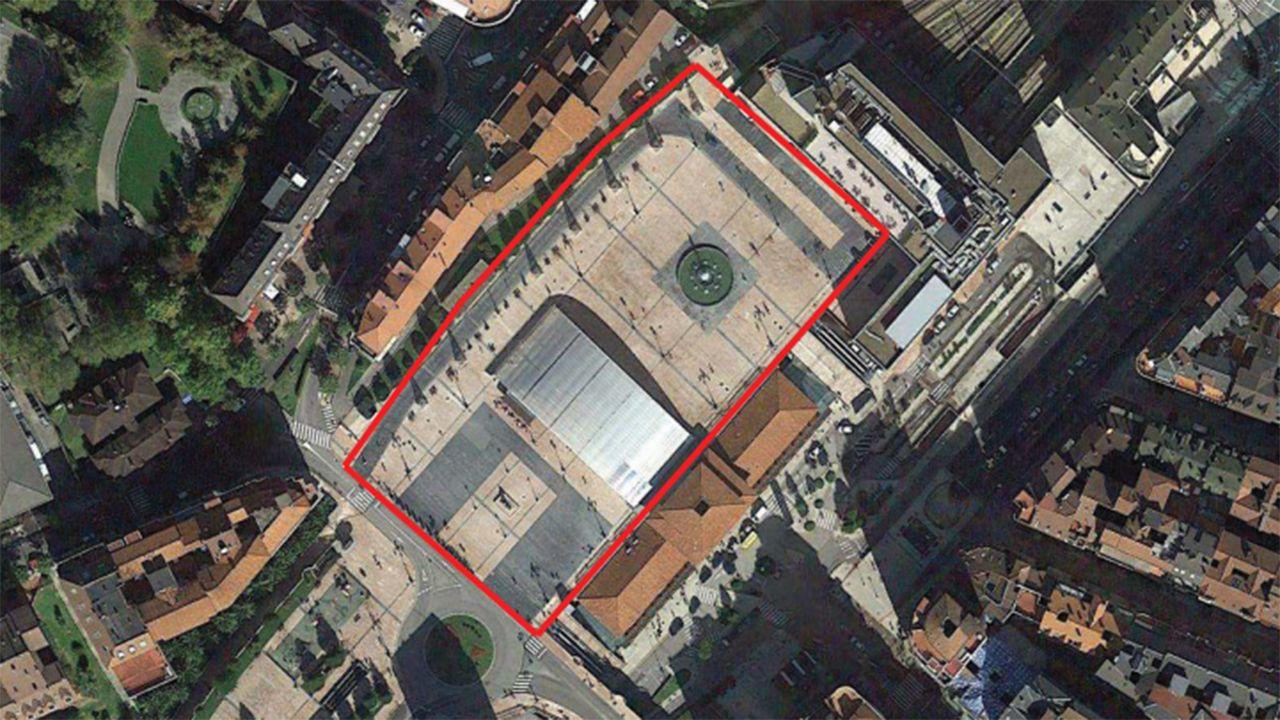 Vista aérea de La Losa de Oviedo