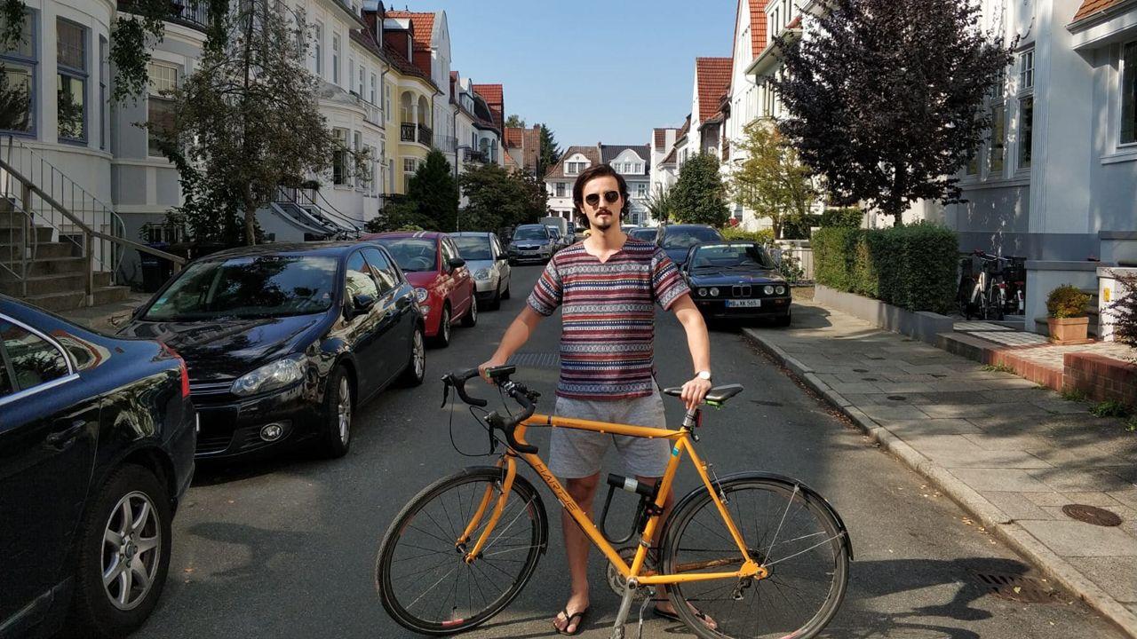 El asturiano Pelayo Peñarroya, en Bremen