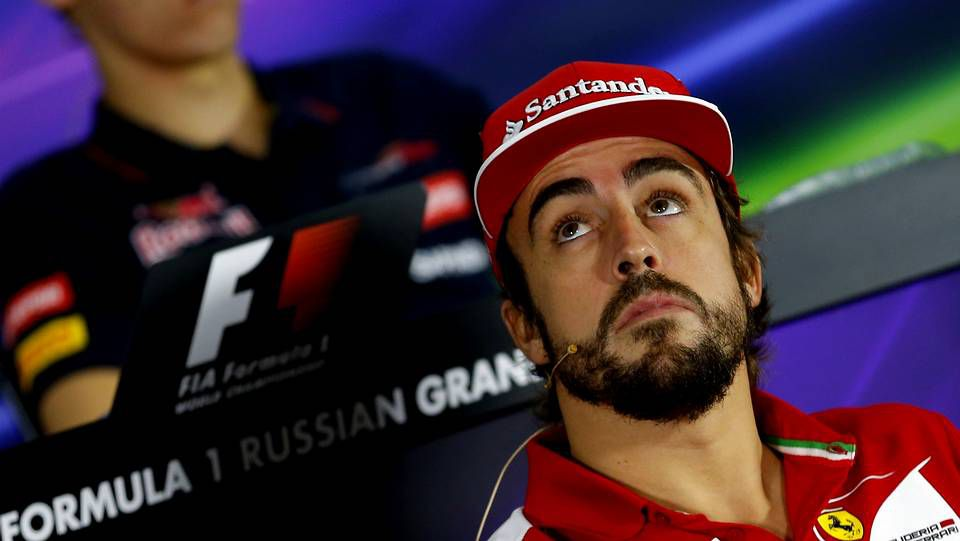 El GP de Estados Unidos, en imágenes.El piloto español de Fórmula 1, Fernando Alonso, de Ferrari, durante la rueda una rueda de prensa en el circuito de Sochi.