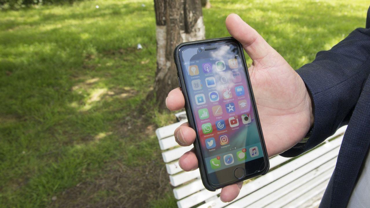 Imagen de archivo de un teléfono móvil