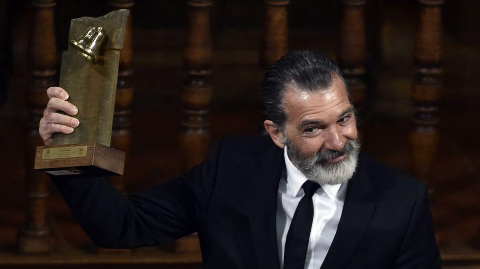 Banderas recibe de manos del rey el galardón «Camino Real».Antonio Banderas, en el Festival de Málaga