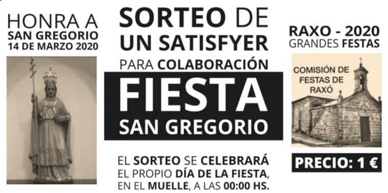 Revuelo en Raxó por el sorteo de un juguete erótico para las fiestas patronales de San Gregorio