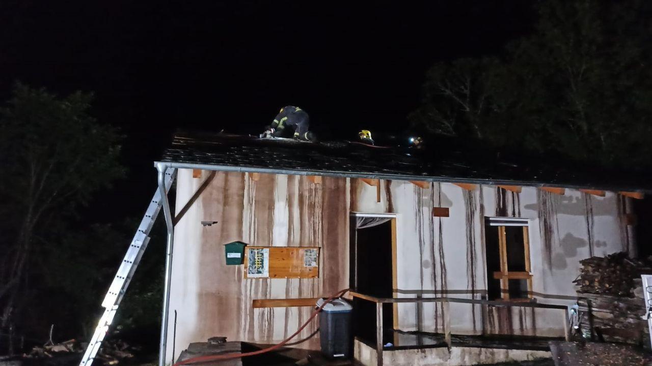 La construcción quedó muy dañada a consecuencia del incendio
