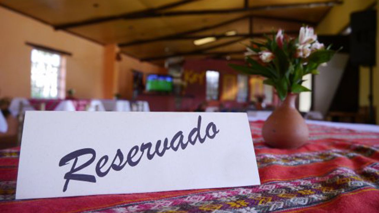 Mesa reservada restaurante reservado reserva