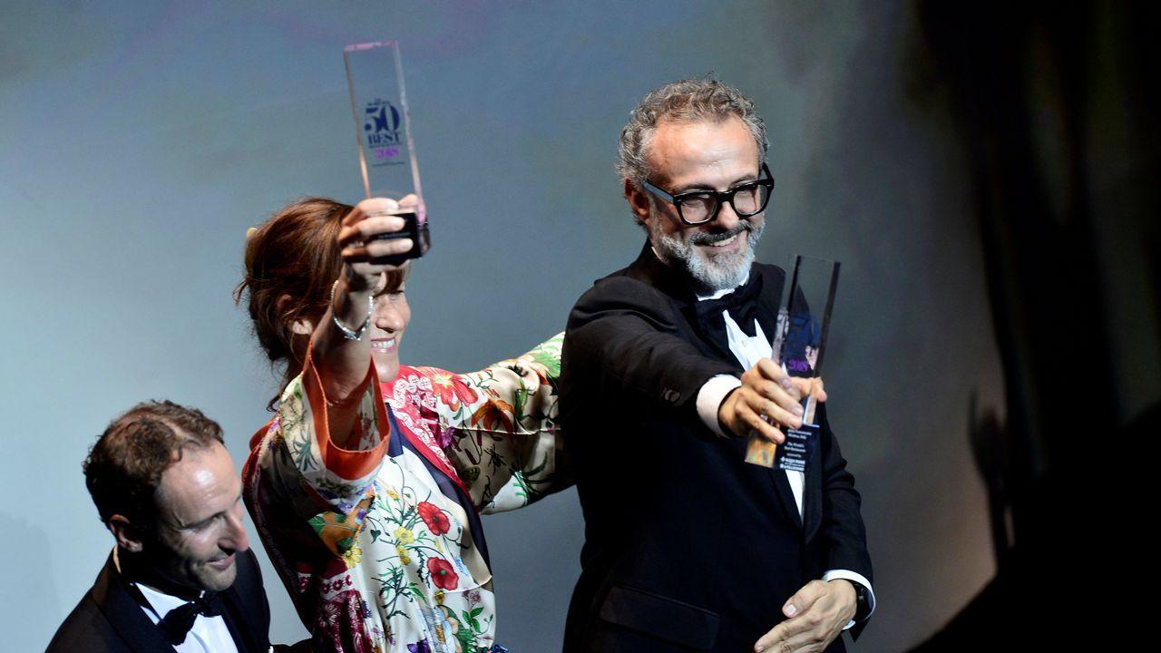 Massimo Bottura recogía el martes en Bilbao el «título» de mejor restaurante del mundo para su establecimiento