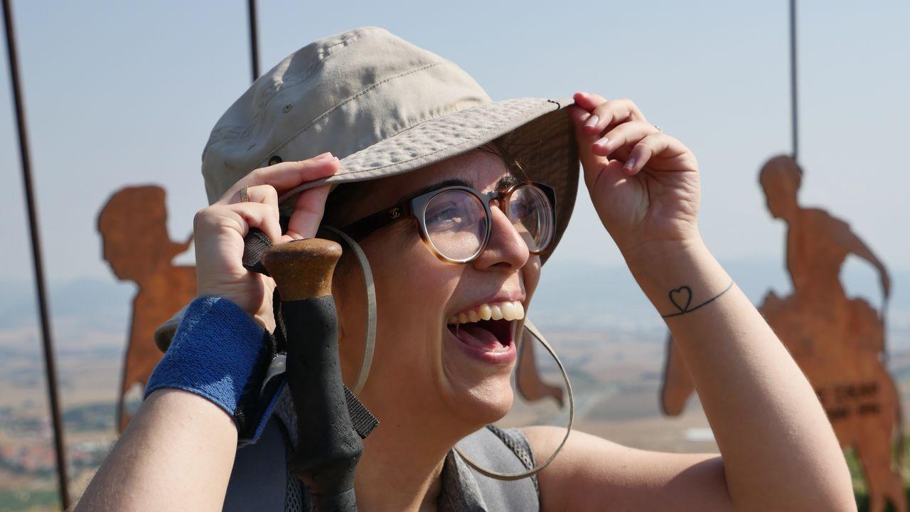 Patricia, viguesa, también peregrina hacia Santiago