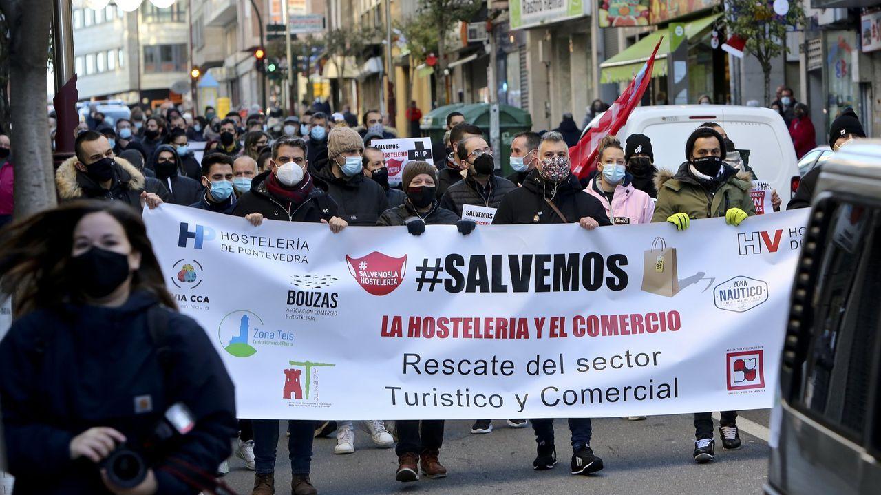 Imagen de archivo de una protesta del sector