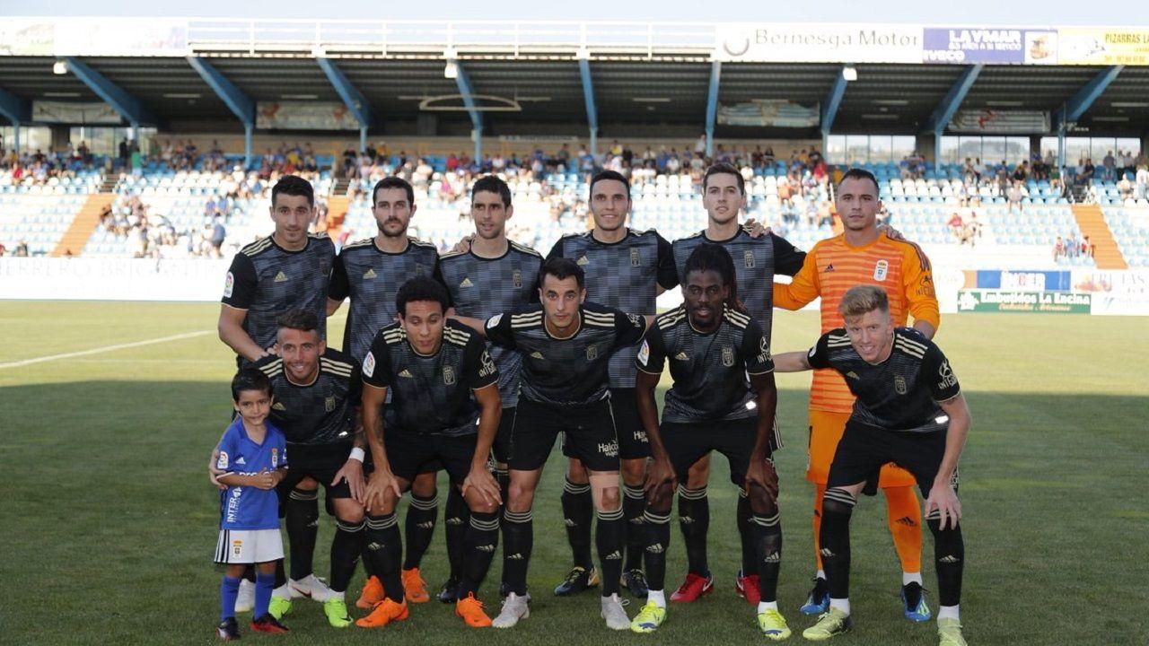 Anquela Requexon Real Oviedo.Alineación del Oviedo ante la Ponferradina