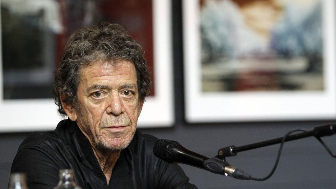 Lou Reed, en Madrid en el 2012, en una exposición de sus fotografías