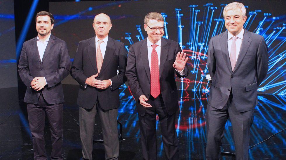 Jordi Sevilla, con el candidato Pedro Sánchez