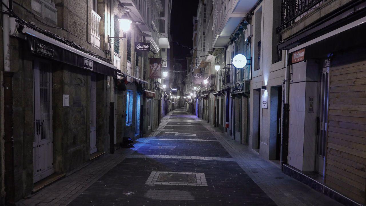 Las calles de A Coruña, después de las 10 de la noche.
