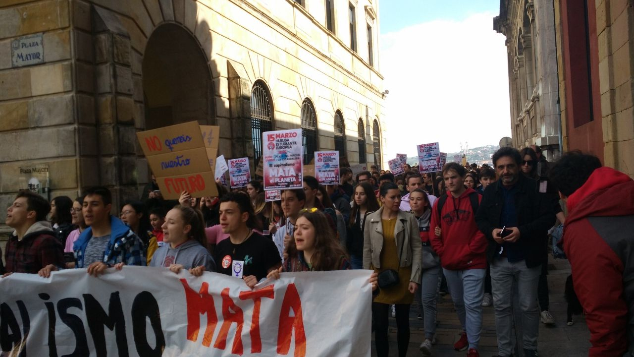 Manifestación por el clima en Gijón.Manifestación por el clima en Gijón