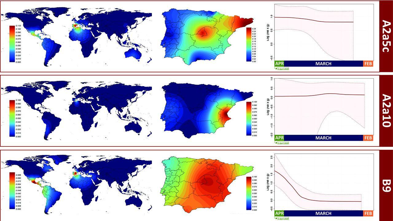 Los linajes genéticos del coronavirus en España.Una mujer llega al aeropuerto de Birmingham, en el Reino Unido