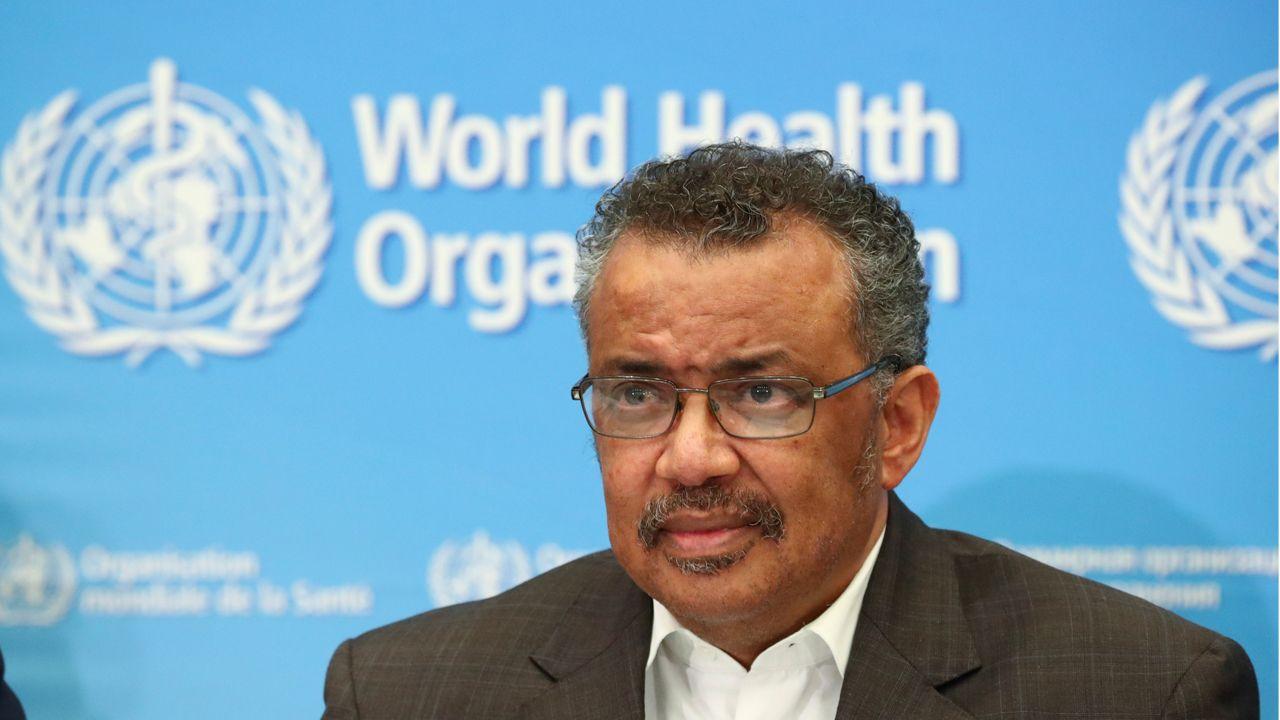 El director general de la OMS, Tedros Adhanom Ghebreyesus, en la rueda de prensa en la que declaró la emergencia internacional
