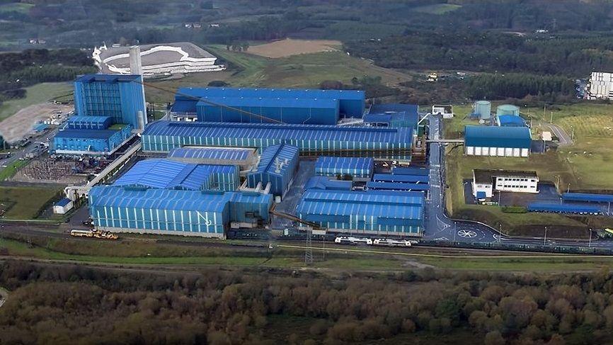 Nave de Sogama en el polígono industrial de Monforte