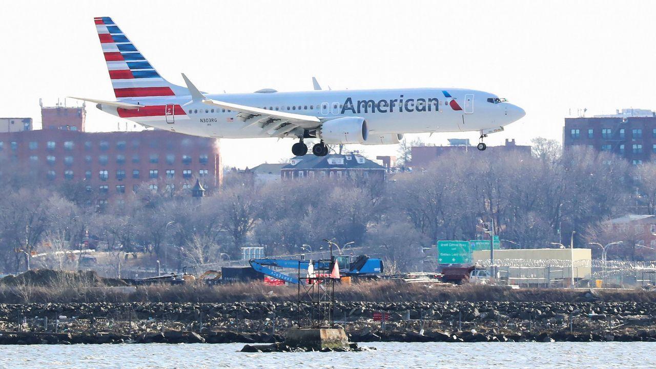 Un Boeing 737 Max 8, durante un vuelo entre Miami y Nueva York