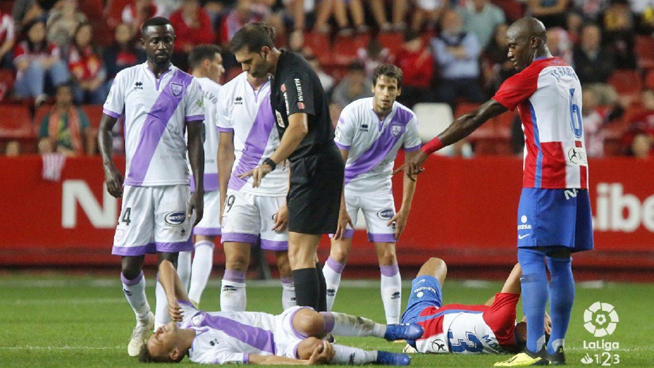 Trujillo Suárez durante el Sporting-Numancia de esta temporada