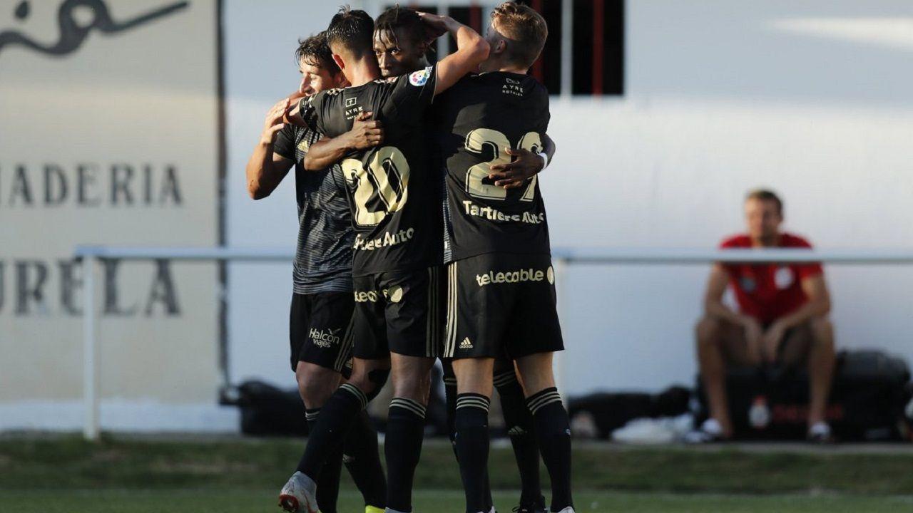 Saúl, Tejera, Ibra y Mossa celebran el 1-1