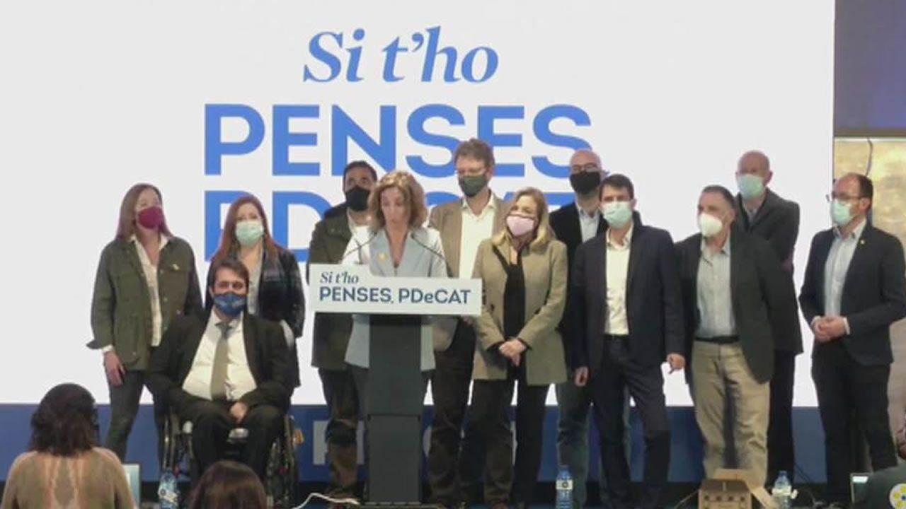 En directo: el Congreso recuerda el 40 aniversario del 23F.La candidata de Junts, Laura Borràs, durante un acto de campaña