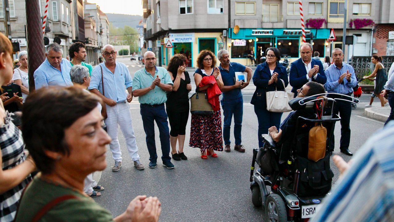 Fernando Rebón (en la imagen, con mochila) declaró ayer en los juzgados