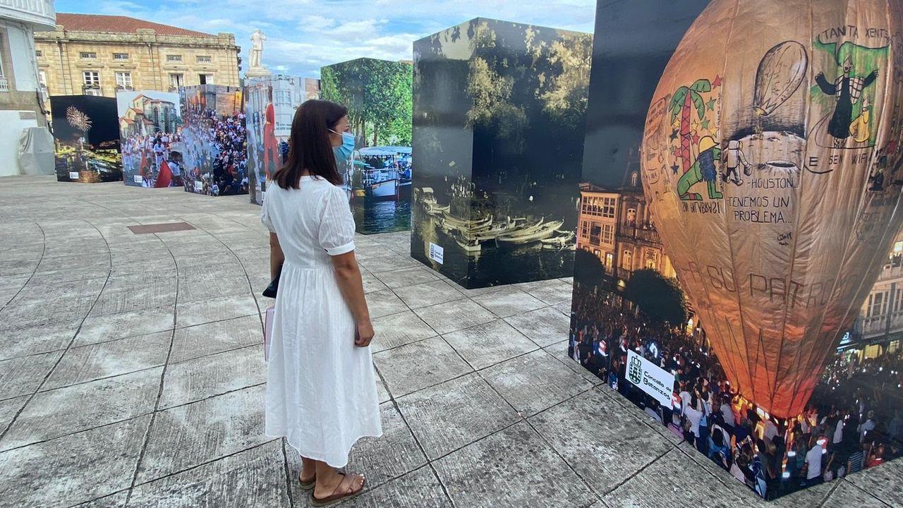Zona en la que se va a actuar en A Ribeira.La alcaldesa de Betanzos, María Barral, junto al concejal de Obras, Diego Fernández, revisando el estado de las obras
