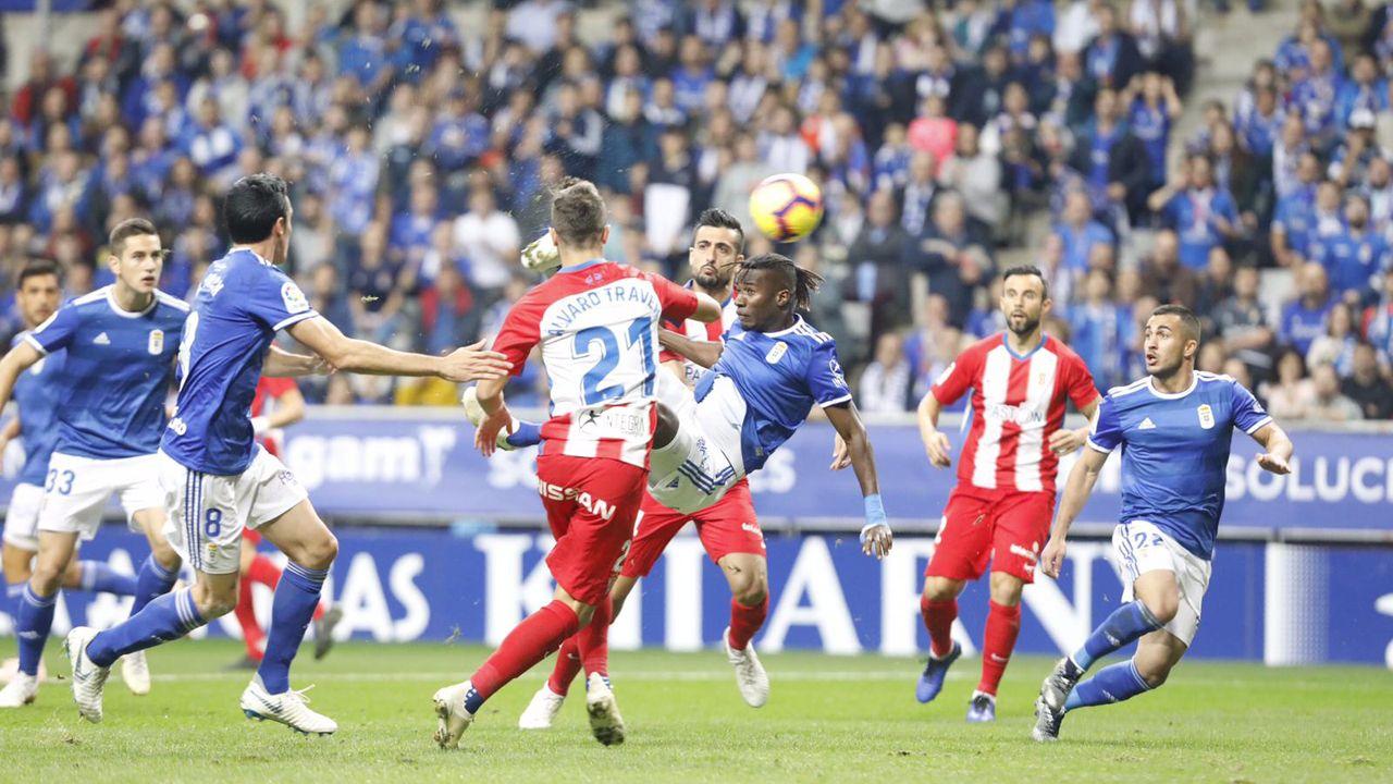 Derbi entre el Oviedo y el Sporting en el Tartiere en 2018