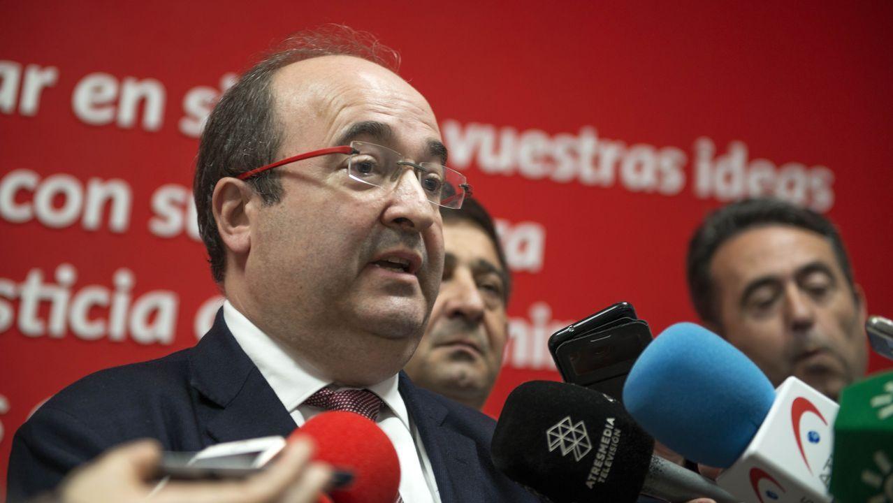 Imágenes de la intervenciónpolicial en la AP-7 y en el municipio de Salt.Miquel Iceta (PSC). Podría dar el salto al Gobierno de Pedro Sánchez.