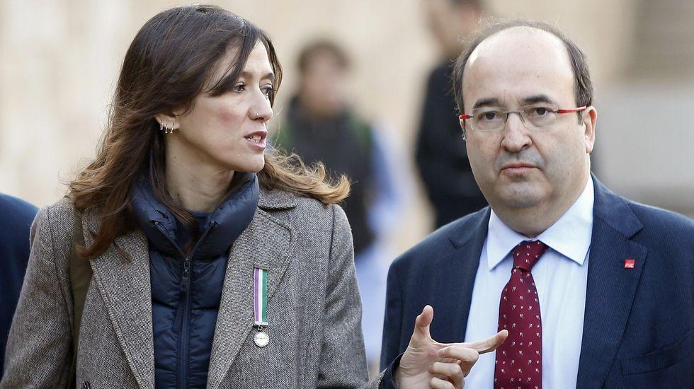 Iceta y Parlon llaman a votar en el PSC con la vista puesta en el no a Rajoy