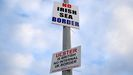 Carteles contra las medidas impuestas tras el «brexit» en Irlanda del Norte