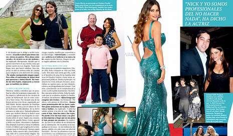<span lang= es-es >Espectacular</span>. La vida se Sofía, que lleva desde los 18 años haciendo publicidad, en «Hoy Corazón». A la derecha, la portada de la revista.