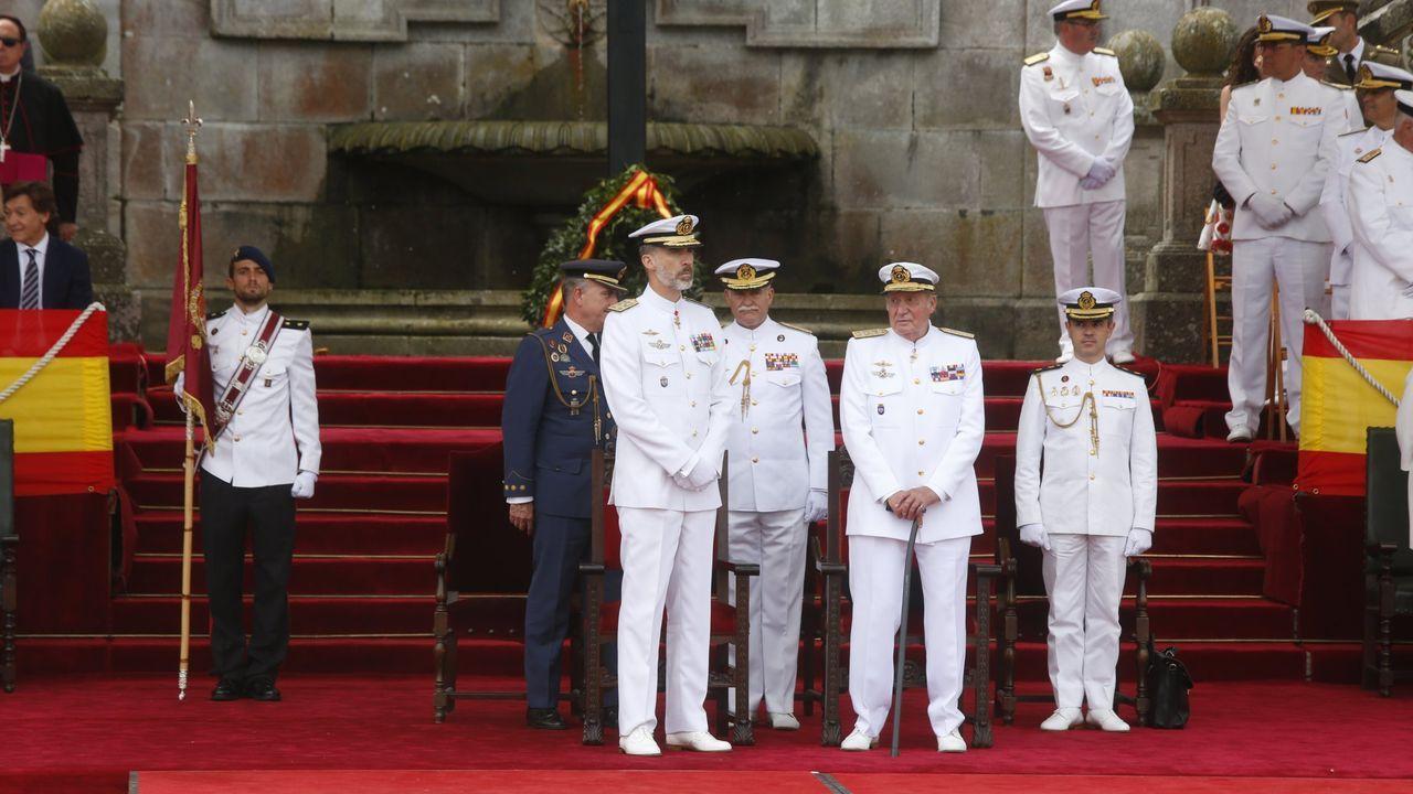 Parada Naval de celebración de los 300 años de la Escuela Naval Militar de Marín. Junio del 2017