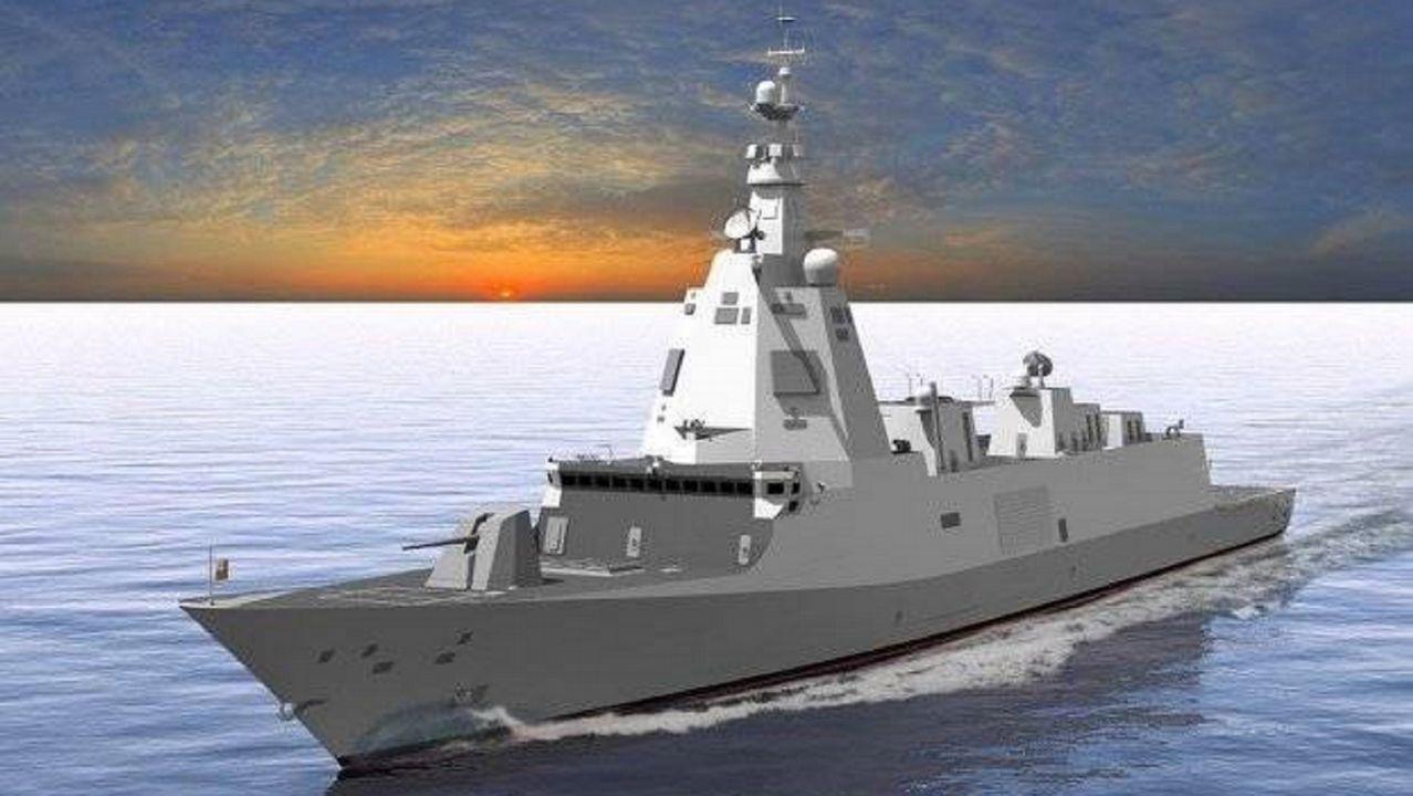 Modelo de la fragata F-110