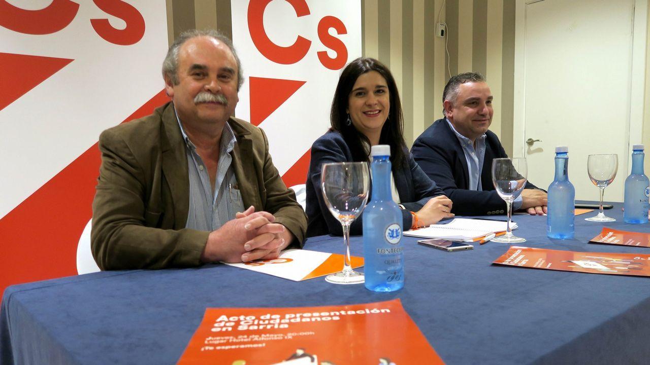 El alcalde Martiño Noriega durante un pleno en Santiago