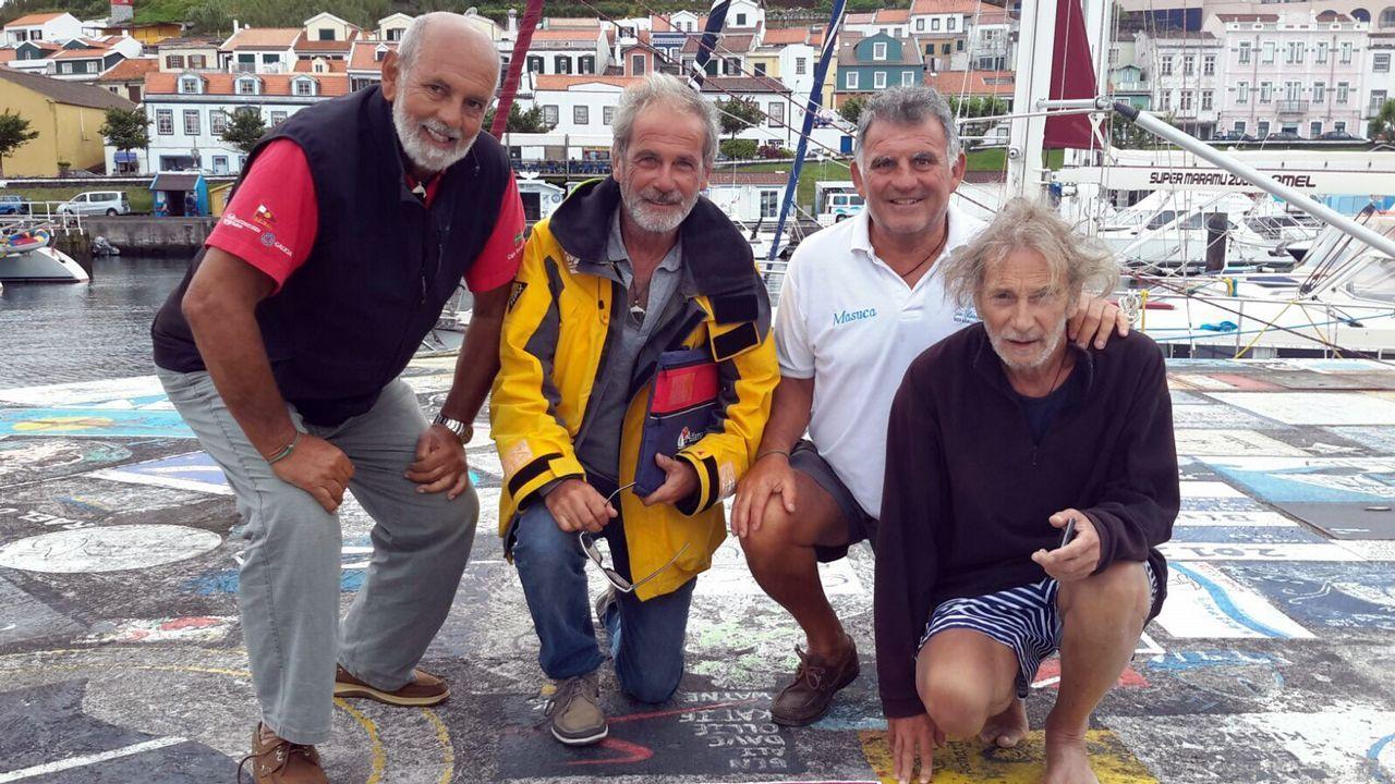 Un ribadense cruzando el Atlántico en velero