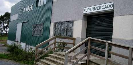 Aspecto que ofrecía anteayer por la tarde la sede de Xertigan, situada en Momán (Xermade).