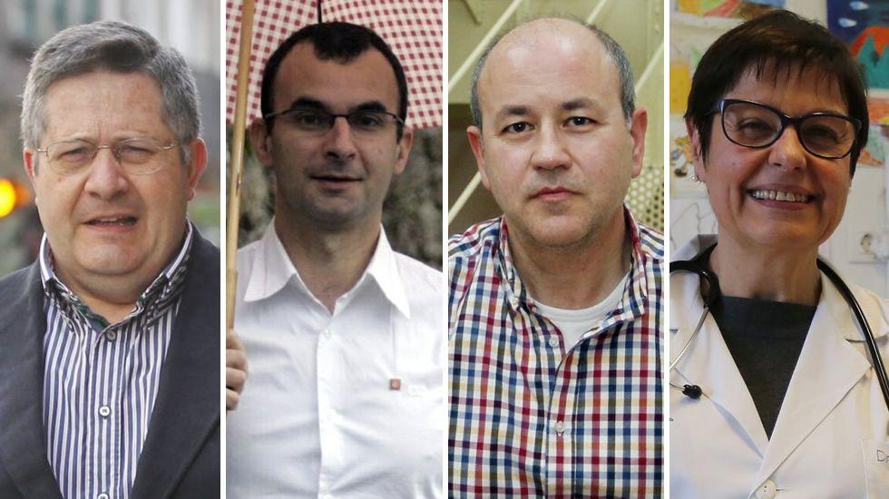 Manuel Blanco Desar (economista), Santiago González Avión (sociólogo), Carlos Ferrás (demógrafo) y Teresa Valls (médico)