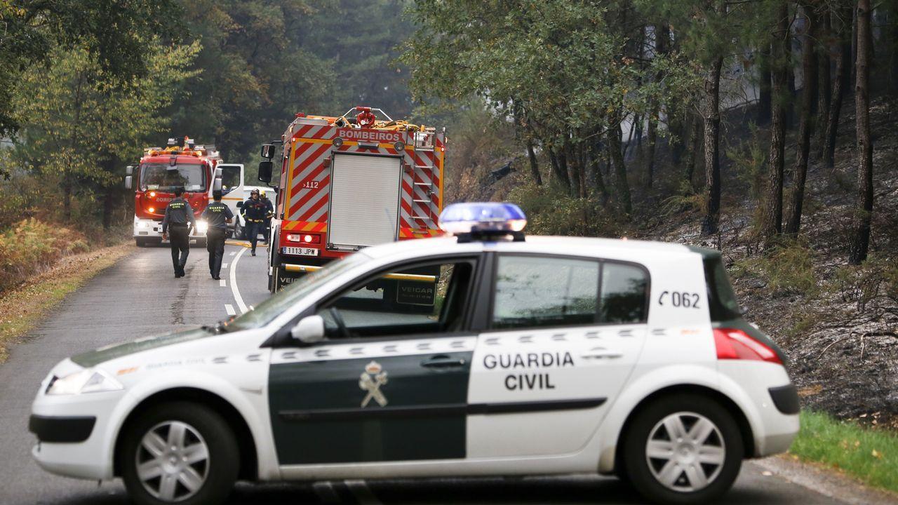 Carretera cortada en Monforte