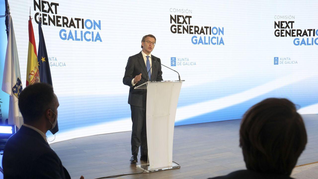 El líder de Vox, Santiago Abascal, durante un debate en el Congreso