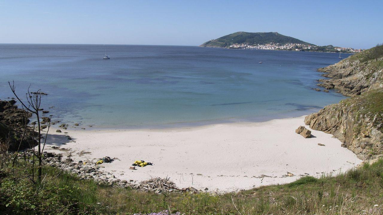 Playa de Talón, en Fisterra