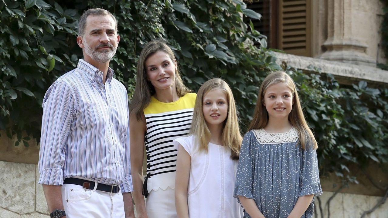 La familia real en el verano del 2017