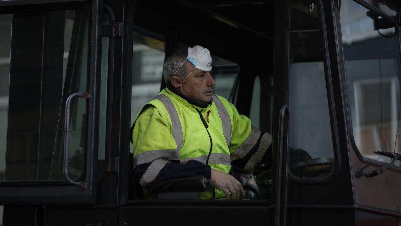 Así ha sido la vuelta al trabajo de la construcción en Galicia.La vuelta a la actividad era claramente visible en algunas empresas del polígono
