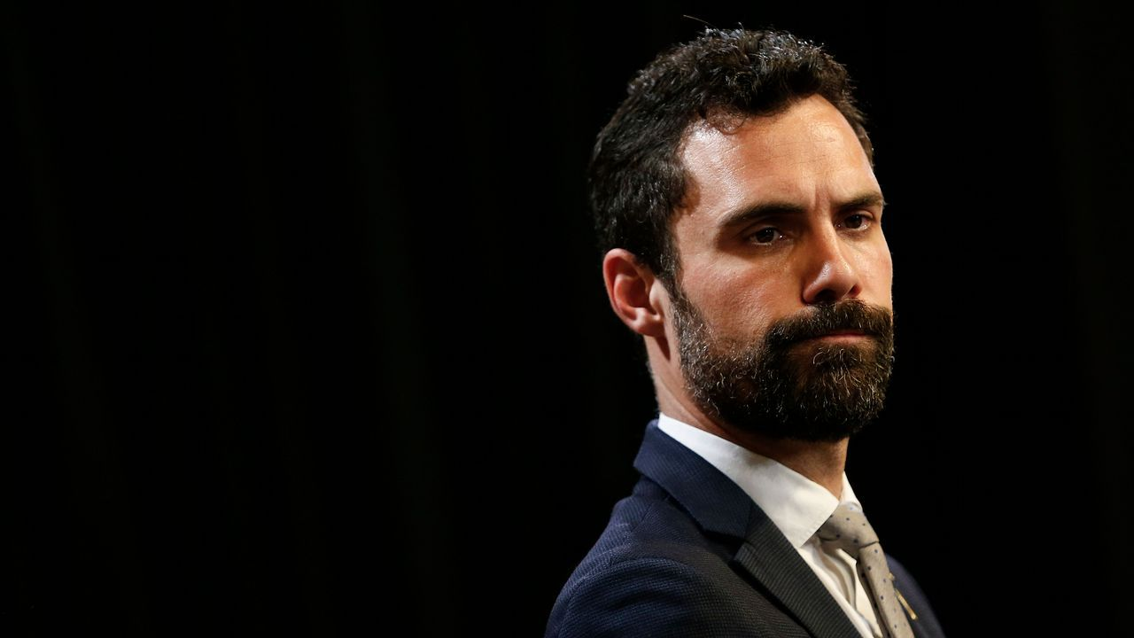 Disputa en el Parlament entre JxCat y ERC.Roger Torrent
