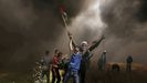Palestinos en Marchas del Retorno en la Franja de Gaza
