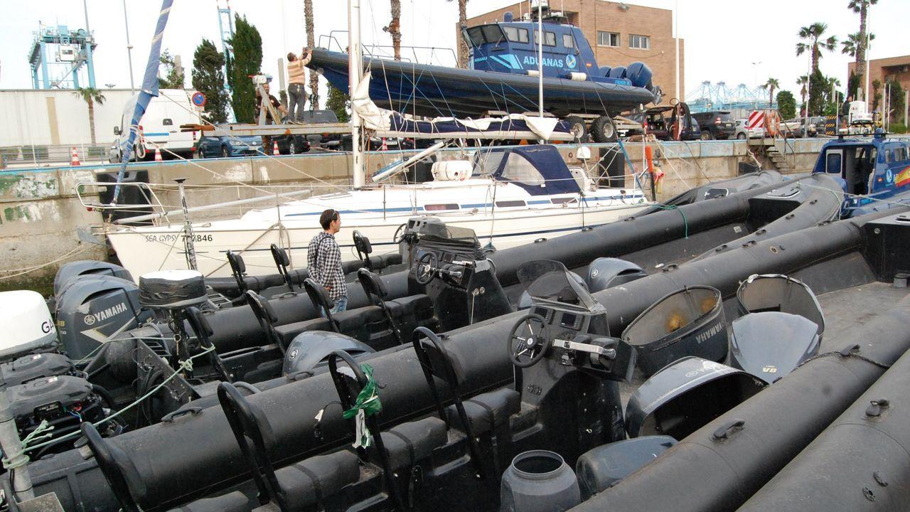 Así se hundió el Nahir.Planeadoras decomisadas a narcotraficantes en Algeciras, en una operación del 2018