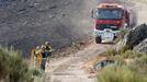 Imagen de archivo de un incendio forestal en la provincia de Lugo.