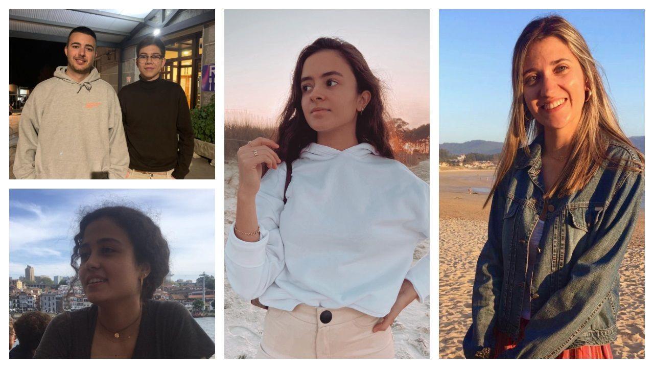 David Main y Gonzalo Álvarez; abajo, Cristina Mato, y  a continuación Lidia Oteo y Natalia García Sousa